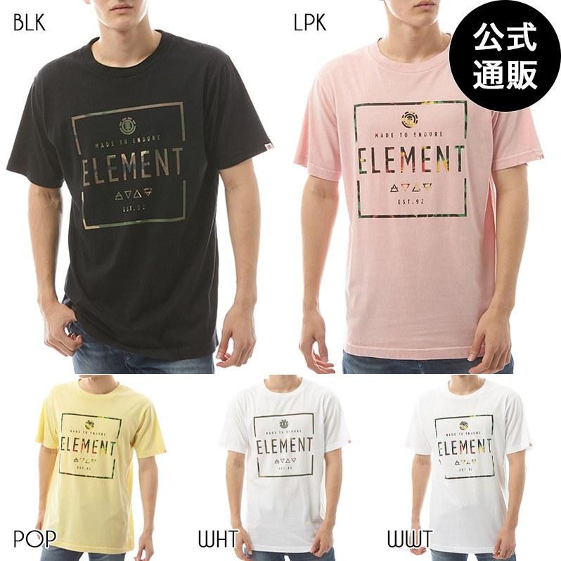 2019 エレメント メンズ  SQUARE LOGO SS Tシャツ