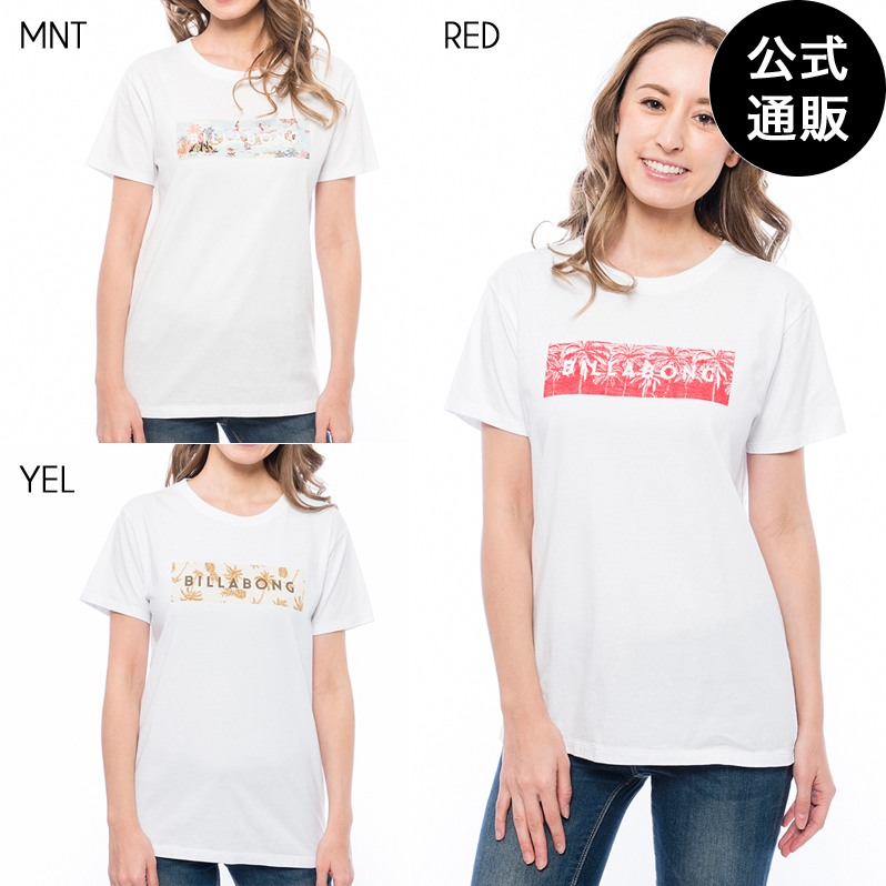 2019 ビラボン レディース クエアロゴTシャツ