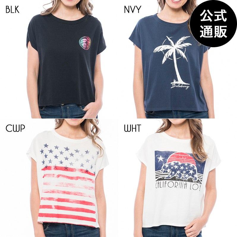 【直営店限定】2019 ビラボン レディース クロップドフレンチスリーブTシャツ