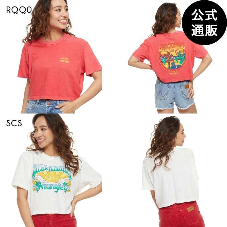 【送料無料】【直営店限定】2021 ビラボン レディース 【Wrangler】 MADE IT クロップドTシャツ 【2021年秋冬モデル】