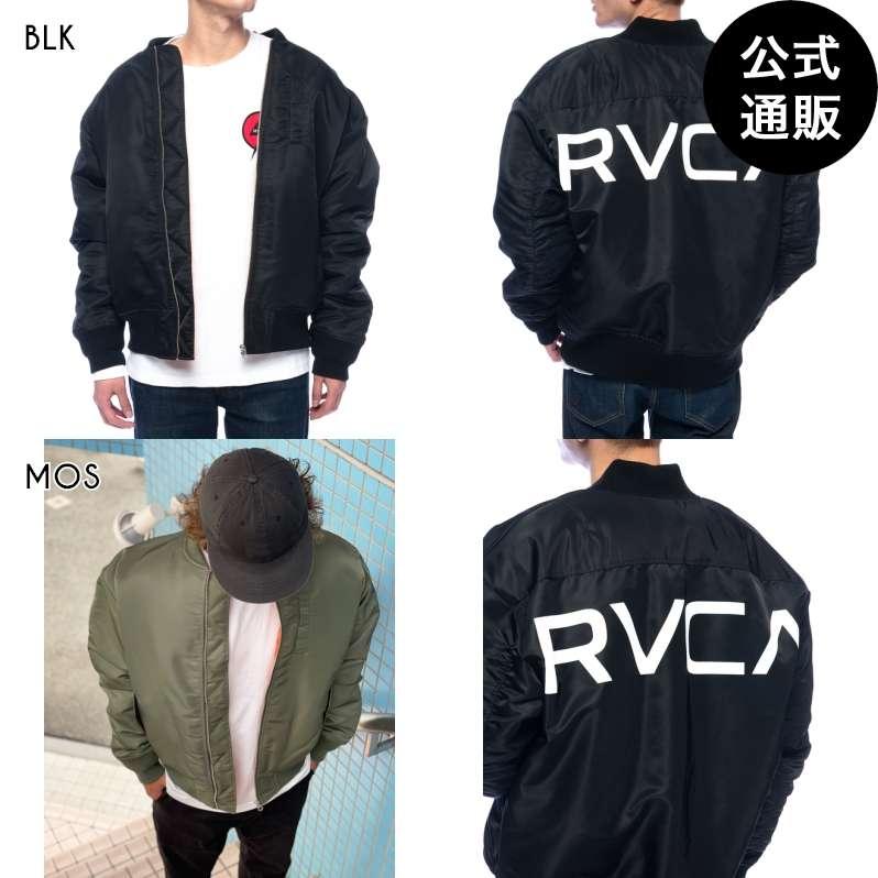 【送料無料】2021 RVCA ルーカ メンズ  BACK RVCA MA-1 ジャケット【2021年秋冬モデル】