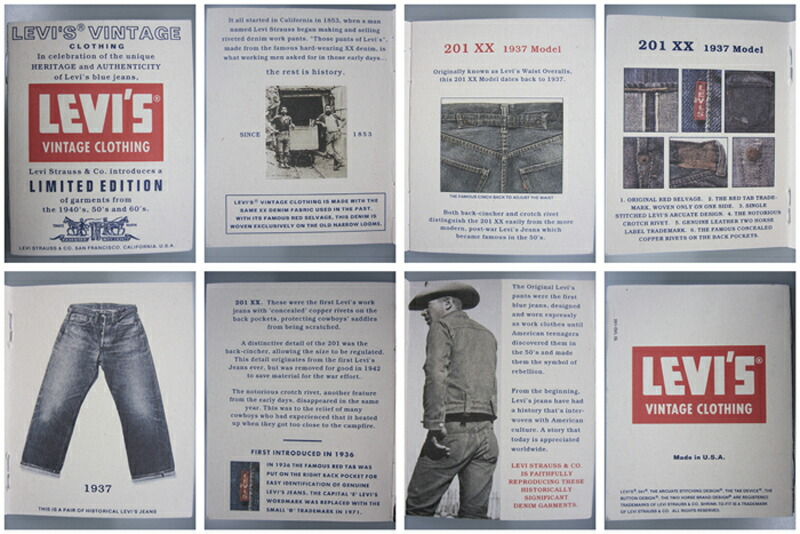 Birigo Levis 37201 0003 Rigid Length 36 Inch 1937 501 Xxc Reprint