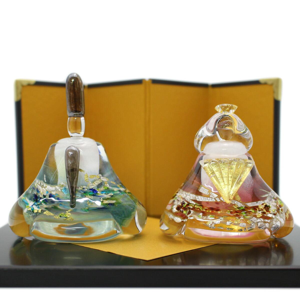ガラスのお雛様 glass calico グラスキャリコ 華雛 ハンドメイド ガラスアート