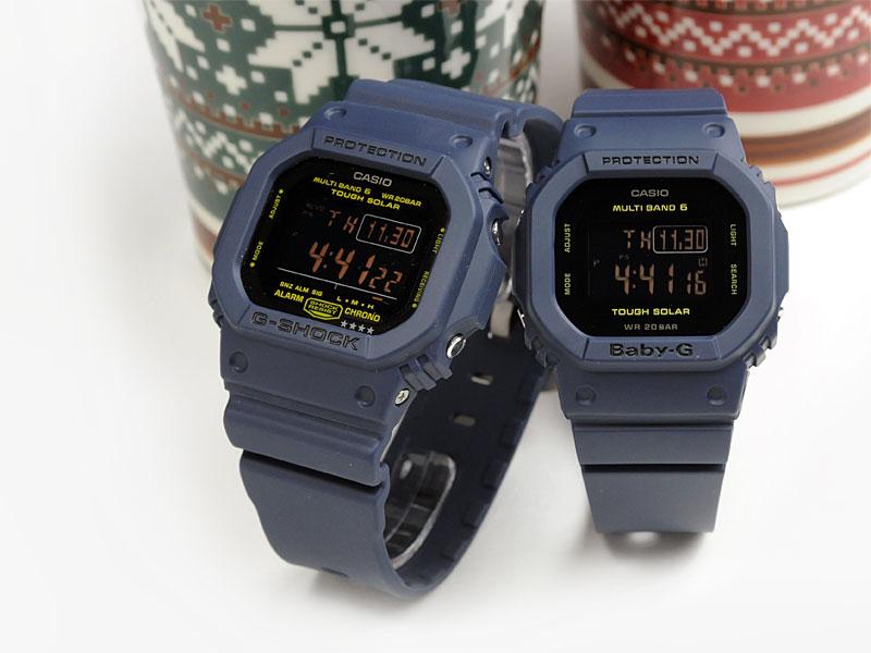 G-SHOCKペアデジタル電波ソーラーネイビーGW-M5610NV-2JF-BGD-5000-2JF