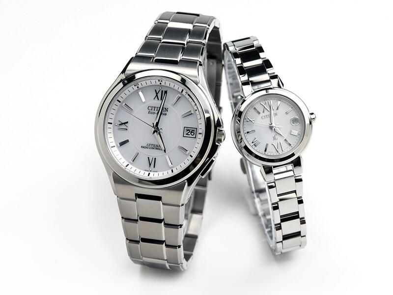 シチズン アテッサ&クロスシー ペアウォッチ ソーラー電波時計 腕時計 ATD53-2842-XCB38-9132