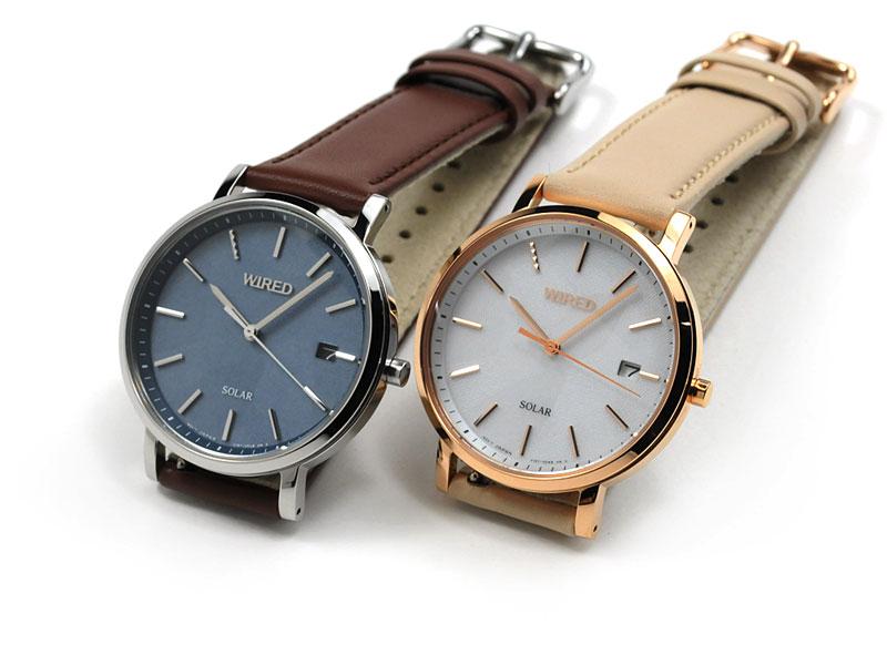 ワイアードペアスタイルペアウォッチソーラー腕時計AGAD091-AGAD09344