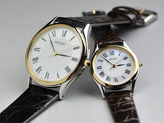 セイコー腕時計ドルチェ&エクセリーヌ薄型ペアウォッチレザー