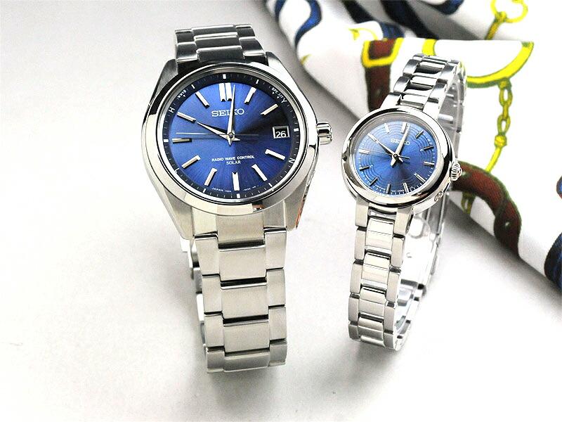 セイコー 腕時計 ソーラー電波 ブライツ&ティセ ペアウォッチ ブルー SEIKO