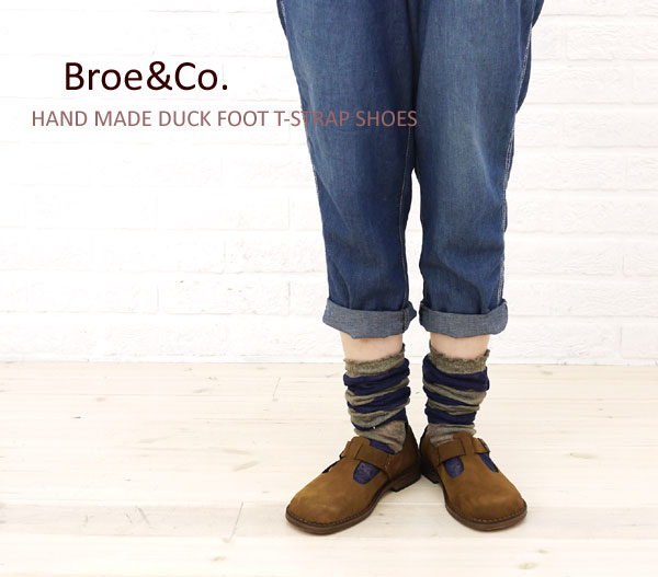 Broe&Co(ブロー&コー) HAND MADE DUCK FOOT T-STRAP SHOES?CNBC0951の着用イメージ