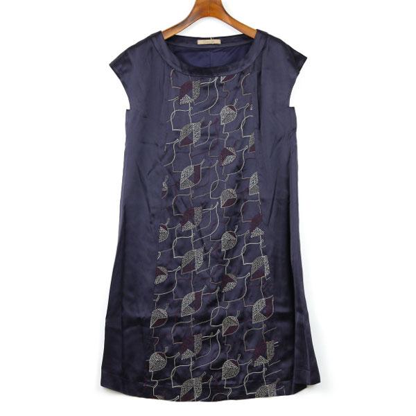 Dress apt.(ドレスアプト) サテン 刺繍 半袖 ワンピース・13773のカラー画像