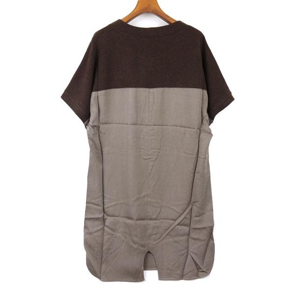 Dress apt.(ドレスアプト) ニット 布帛 切替 ドルマン ワンピース・13816�詳細画�