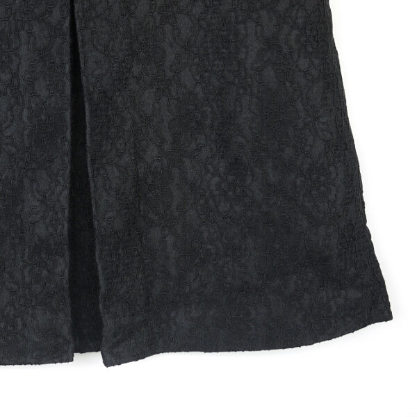 Detailed image of mur mure( ミュルミュール) wool rayon race knee length box pleated skirt .310-252