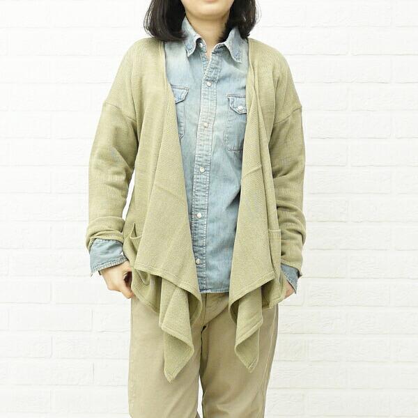 mao made(マオメイド) アクリル 長袖 ショールカラー ニットカーディガン・291144のカラー画像