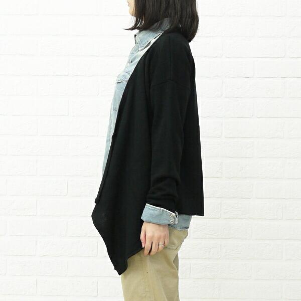 mao made(マオメイド) アクリル 長袖 ショールカラー ニットカーディガン・291144の着用イメージ