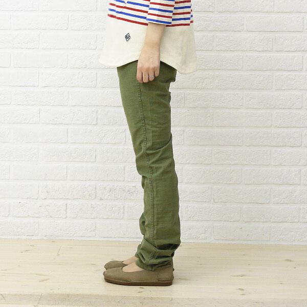 Detailed image of BCB comment * DEEP BLUE( Deep Blue) cotton stretch 12 minutes length leggings .73457