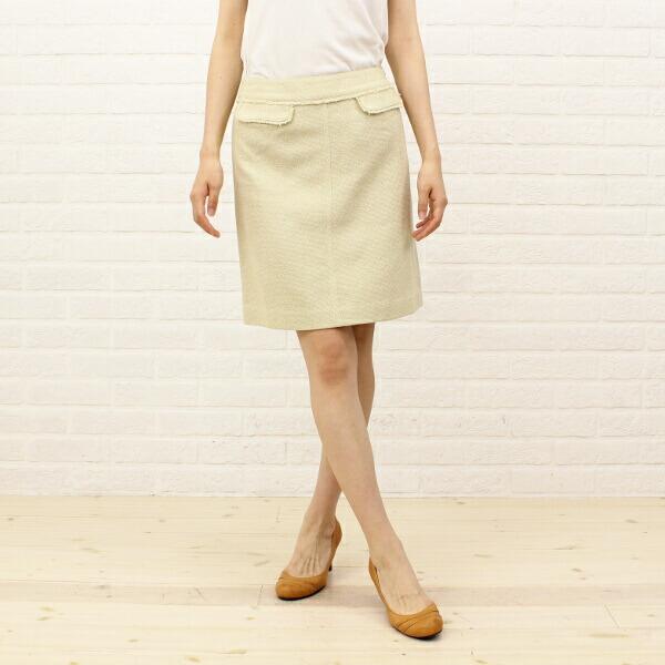 TOMORROWLAND collection(トゥモローランドコレクション) コットン 膝丈 トラペーズスカート・14-05-21-05051のカラー画像