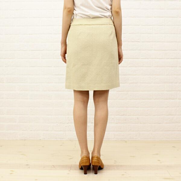 TOMORROWLAND collection(トゥモローランドコレクション) コットン 膝丈 トラペーズスカート・14-05-21-05051の詳細画像