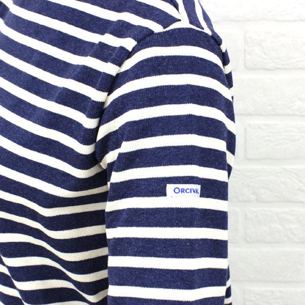ORCIVAL(オーチバル・オーシバル) コットン バスクシャツ 長袖 ボートネック カットソー (ボーダー&無地)・B211 の詳細画像