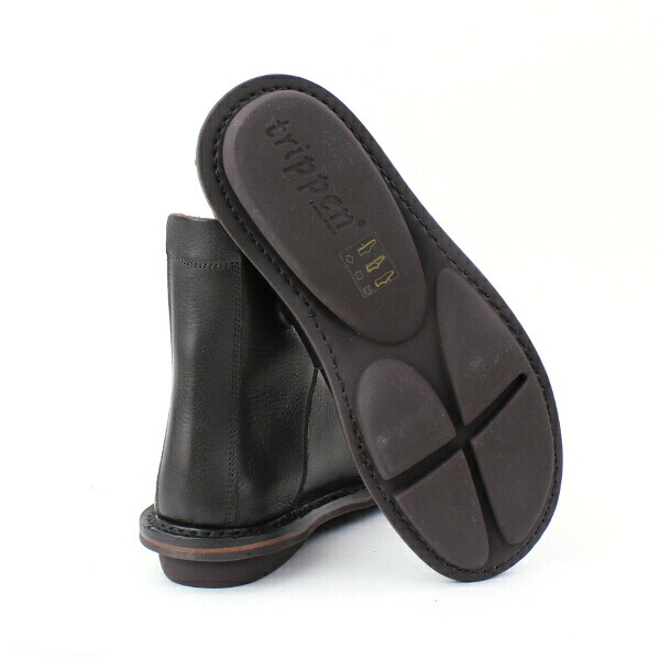 "Detailed image of TRIPPEN( トリッペン) leather race up bootie ""NOMAD"", NOMAD-WAW"