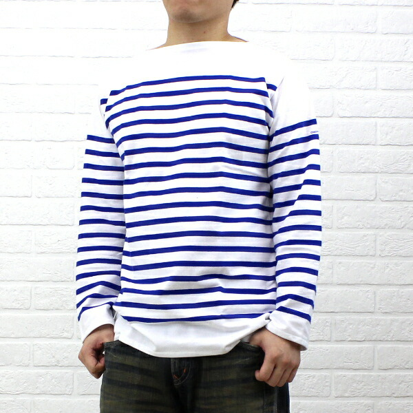 ORCIVAL(オーチバル・オーシバル) コットン 長袖  ボートネック ラッセルボーダー Tシャツ(レギュラー)・6101 のカラー画像