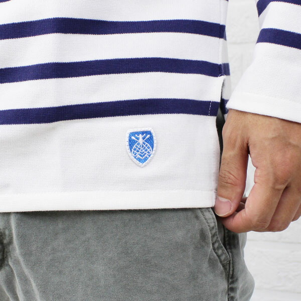 ORCIVAL(オーチバル・オーシバル) コットン 長袖  ボートネック ラッセルボーダー Tシャツ(レギュラー)・6101 の詳細画像