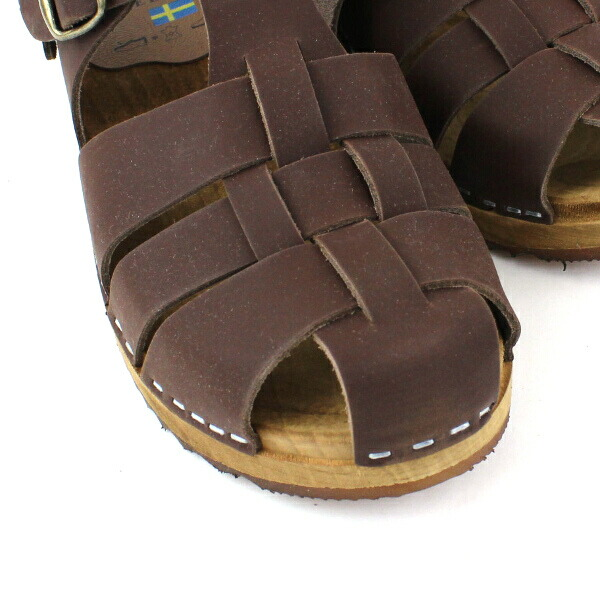 Detailed image of EXPERT( expert) leather strap sabot sandals, NEP0801