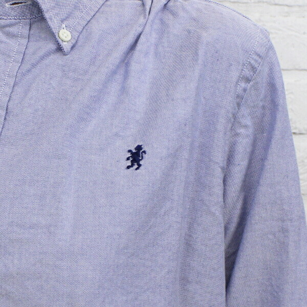 Gymphlex(ジムフレックス) コットン オックスフォード 長袖 ボタンダウン ロングシャツ・J-0873YOX の詳細画像
