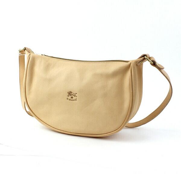 Detailed image of IL BISONTE( イルビゾンテ) leather half moon type shoulder bag (S) .5412300411