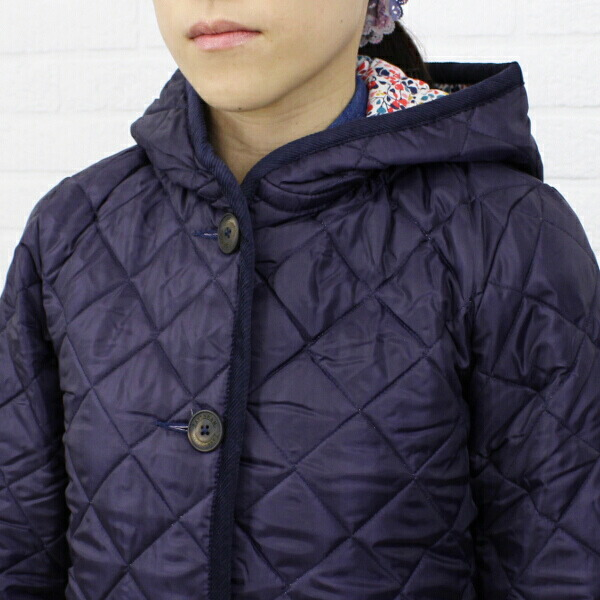 "Detailed image of Liberty quilting coat ""BRUNDON LIBERTY"", BRUNDON-LIB with the LAVENHAM( ラベンハム) polyester food"