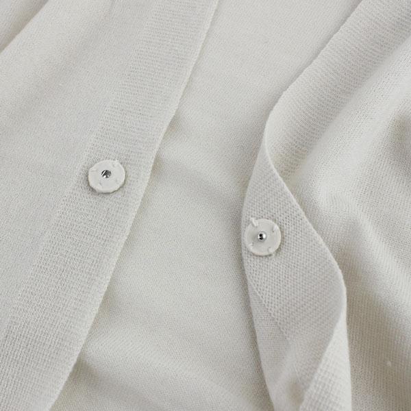 NIMES(ニーム) 14G ウール シルク 長袖 ドレープカラー カーディガン・NLK4101012 の詳細画像