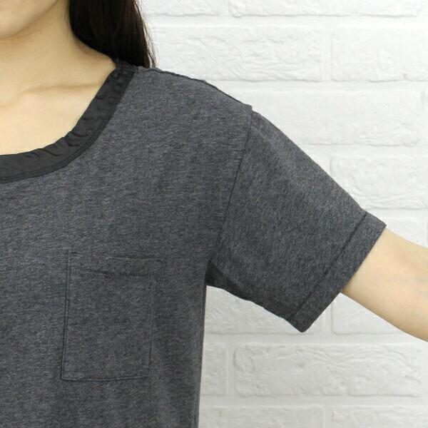 ASPESI(アスペジ) コットン ポリウレタン レーヨン別布切替 半袖 ワンピース・Z601-C070-37 の詳細画像