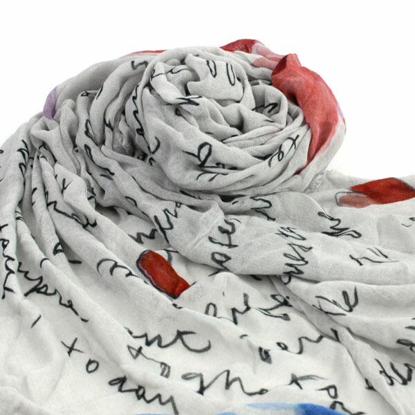 """Faliero Sarti(ファリエロ サルティ) レーヨン ウール プリント 大判ストール """"INFINITY""""・E14-2117 の詳細画像"""
