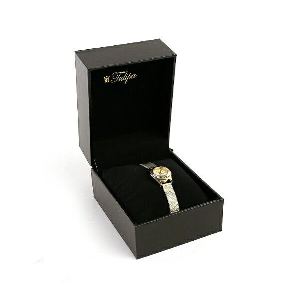 Tulipa(チュリパ) ゴールドブレス ラウンドフェイス 腕時計・TU04-MGD のカラー画像
