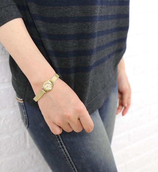 Tulipa(チュリパ) ゴールドブレス ラウンドフェイス 腕時計・TU04-MGD #Tulipa