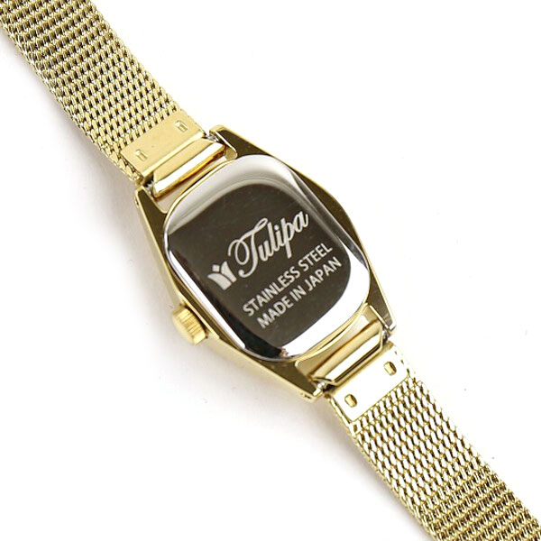 Tulipa(チュリパ) ゴールドブレス ラウンドフェイス 腕時計・TU04-MGD の詳細画像