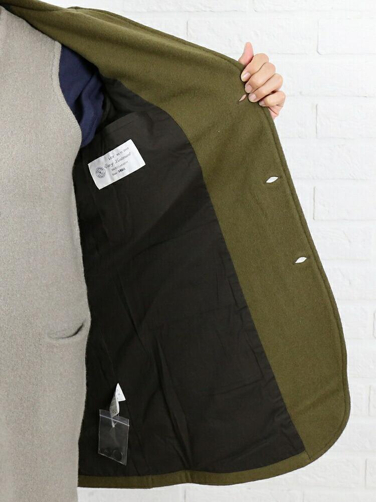 Vas-y Lentement(ヴァジー・ラントマン) ウール ナイロン メルトン テーラードカラー コート・NVL2401 の詳細画像