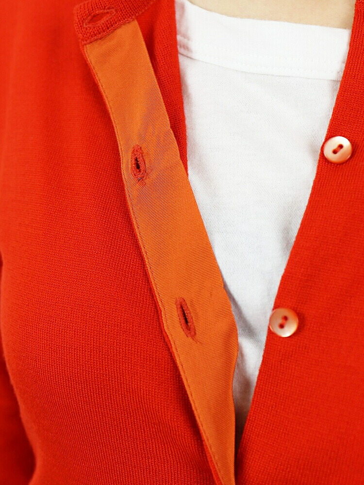 "JOHN SMEDLEY(ジョンスメドレー) ウール 長袖 クルーネック ニットカーディガン ""BUTTERCUP""・BUTTERCUP の詳細画像"