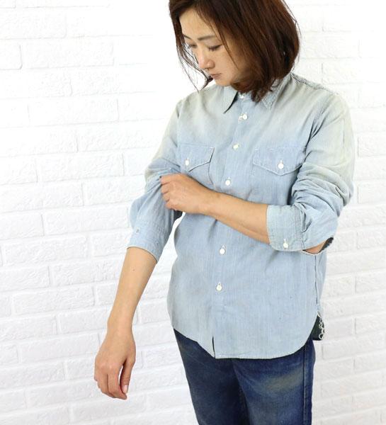 "chimala(チマラ) コットン シャンブレー ワークシャツ ""CHAMBRAY WORK SHIRT""・CS18-S01A  #chimala"
