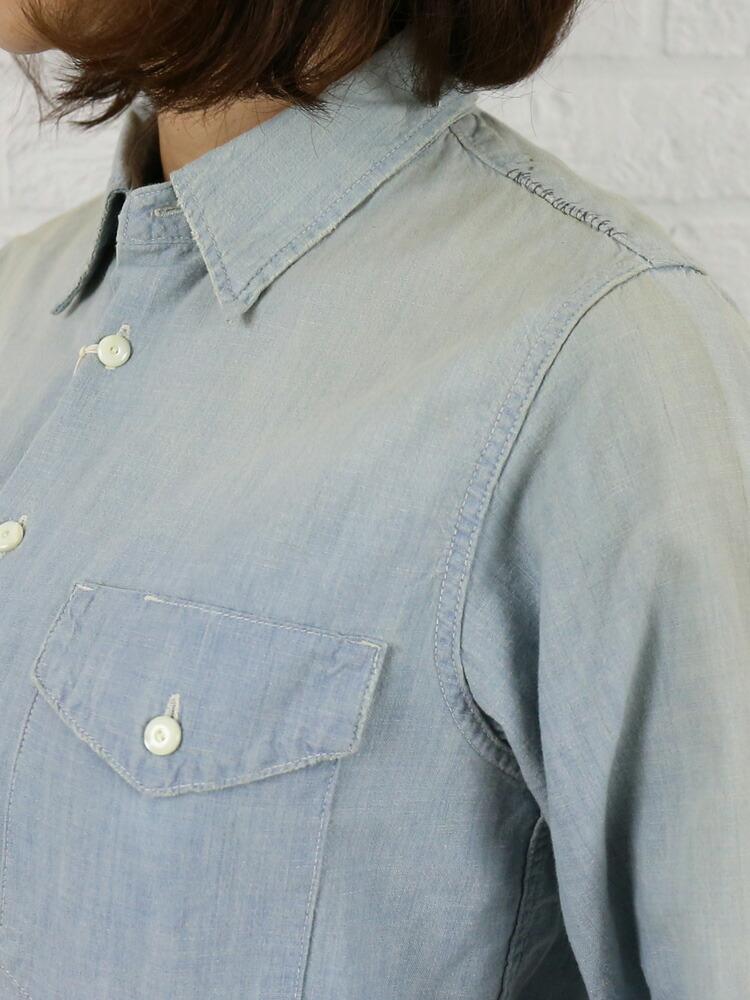 """chimala(チマラ) コットン シャンブレー ワークシャツ """"CHAMBRAY WORK SHIRT""""・CS18-S01A の詳細画像"""