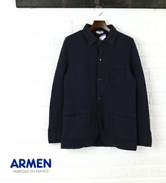 ARMEN(アーメン) コットン ポリエステル キルティング シャツカラー ジャケット・NAM0602  #ARMEN
