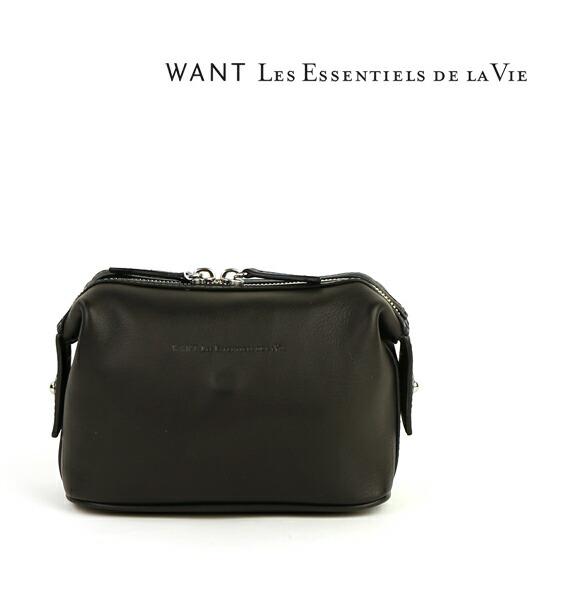 WANT Les essentiels de la Vie(ウォントレスエッセンシャルデラヴィ) レザー スクエア スモールポーチ・56-10-10-10704  #WANTLesessentielsdelaVie
