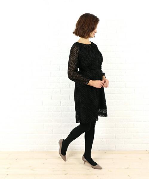 Dress apt.(ドレスアプト) ポリエステル ベルト付き ワンピース・16405  #Dressapt.
