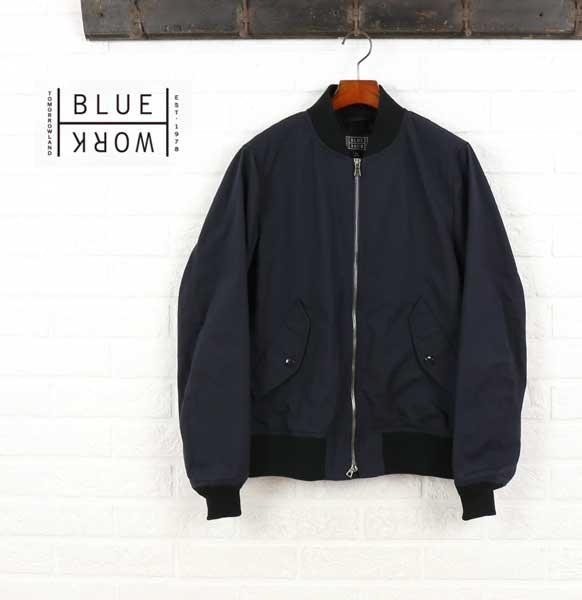 Blue Work(ブルーワーク) ギャバジン リブ ブルゾン ジャケット・54-08-61-08105  #BlueWork