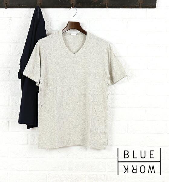 Blue Work(ブルーワーク) コットン 半袖 Vネック Tシャツ・54-11-61-11702  #BlueWork