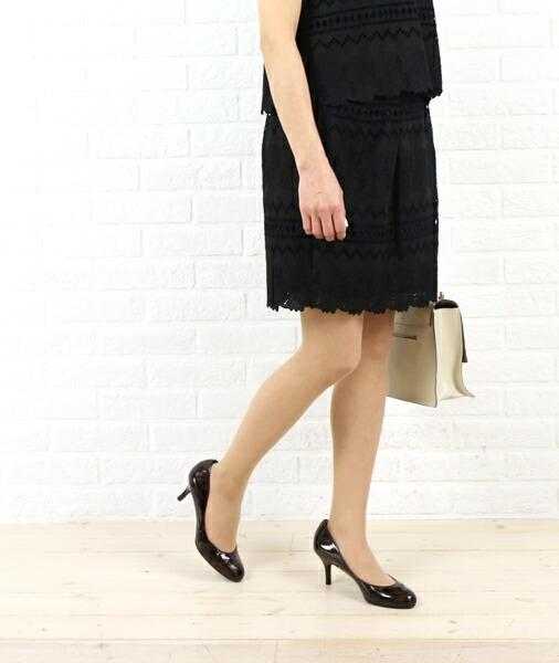 ara・ara(アラ・アラ) コットン 刺繍レース タックスカート・161018  #ara・ara