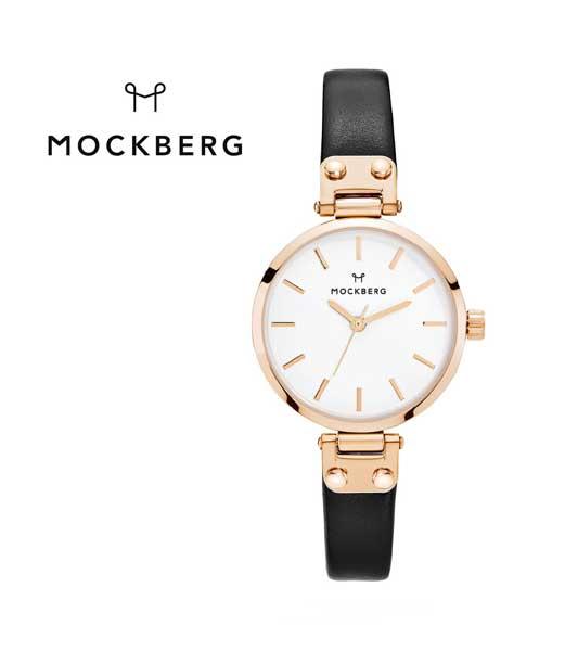 "MOCKBERG(モックバーグ) レディースウォッチ 腕時計  レザーベルト ラウンド 28mm ""SIGRID PETIT""・1401  #MOCKBERG"