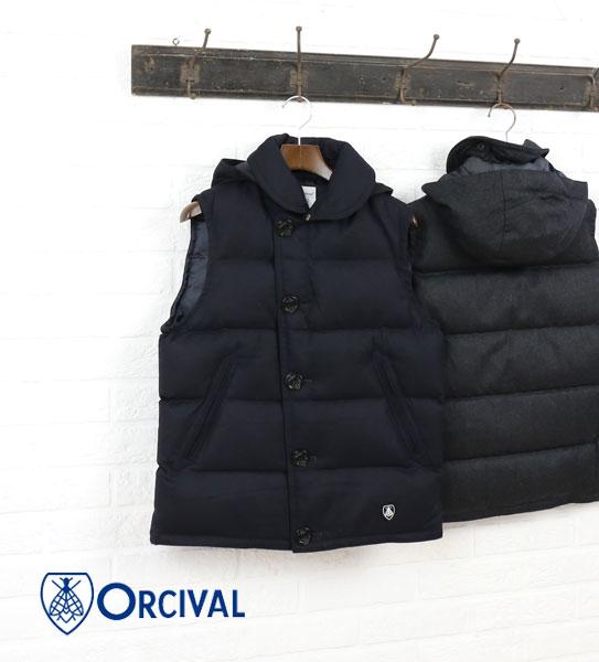 ORCIVAL(オーチバル・オーシバル) ウールフランネル  ダウンベスト・RC-8755FNN  #ORCIVAL