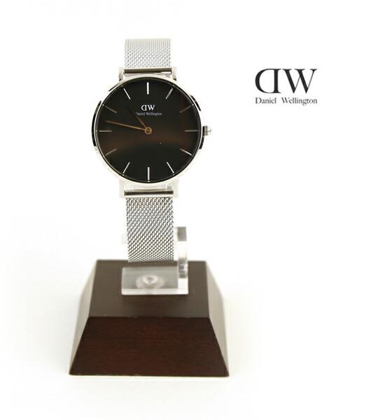 Daniel Wellington(ダニエル・ウェリントン) クラシックブラック ペティット スターリング シルバー ラウンド 時計 腕時計 32mm リストウォッチ・DW00100162 #DanielWellington