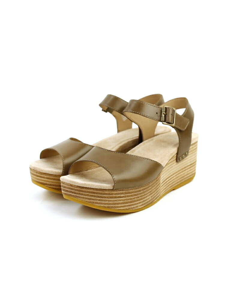 f5931c0b2a1c February  dansko (ダンスコ) leather wedge sole opening toe sandals ...