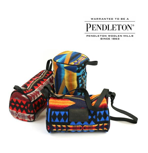 PENDLETON(ペンドルトン) ウールコットン ネイティブ柄 2WAY ショルダーバッグ ポーチ ドップバックウィズストラップ・19801041  #PENDLETON